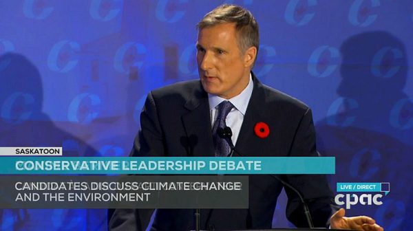 'I'm the only candidate here' who believes in free trade in agriculture, said Mr. Bernier. Screenshot courtesy of CPAC