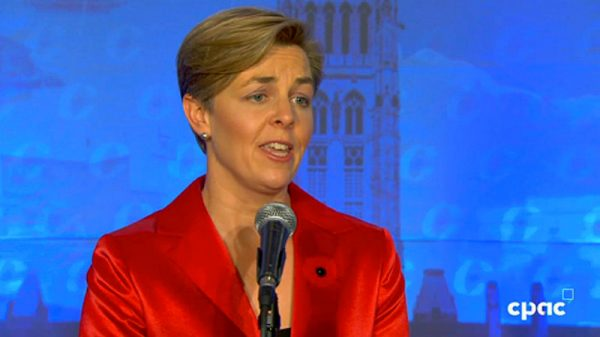 'Mr. Trump and I have a few things in common,' said Kellie Leitch. Screenshot courtesy of CPAC