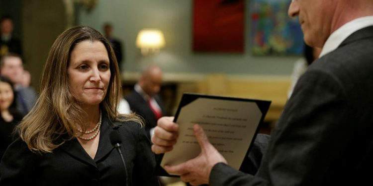 Foreign Affairs Minister Freeland's foreign policy a little tweaking
